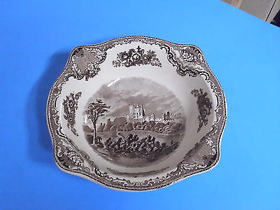 Johnson Bros England Old Britain Castles Serving Bowl 9 1/4 Inches Brown