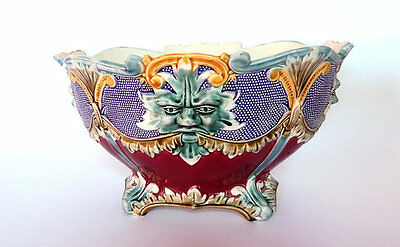 Large Antique French Majolica Jardiniere