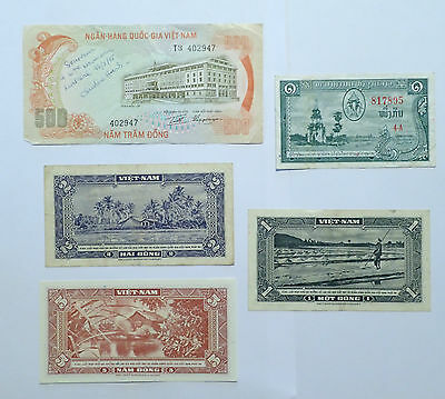 BILLET - lot 5 billets VIETNAM ASIE - R235