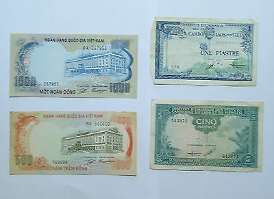 BILLET - lot 4 billets VIETNAM ASIE - R236