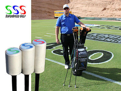 SuperSpeed Golf Mens 3 Club Training System INCREASES CLUB SPEED -FREE SHIPPING!