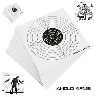 100 x Anglo Arms 14cm Shooting Card paper Targets Shooting Airgun Air Rifle