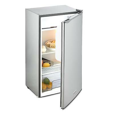 Klarstein Fridge Freezer Small 56 L Room Home Cooling Stainless Steel Energy A+