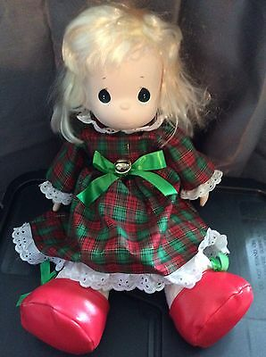 Collectible Plush Precious Moments Christmas Doll Blonde