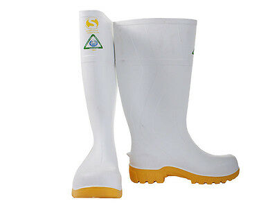 Bata Safemate 2 Anti-Slip Gumboots White UK11