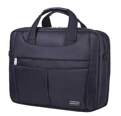 "Premium 15.6"" Widescreen Laptop Bag Notebook Carry Case Shoulder Strap Black"