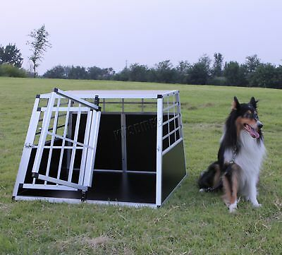 FoxHunter Aluminium Dog Pet Cage Kennel Large Transport Crate Carrier BOX 2 Door