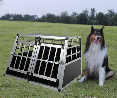 FoxHunter Aluminium Dog Pet Cage Kennel Small Transport Crate Carrier BOX 2 Door