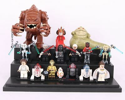 15 pcs Star Wars minifigures The Force Awaken Jabba Rancor Darth Vader fit Lego