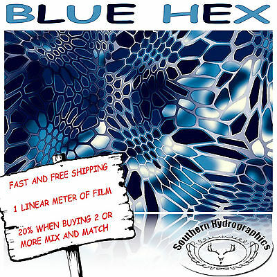 Hydrographic Water Transfer Hydrodipping Film Hydro Dip Blue Hex
