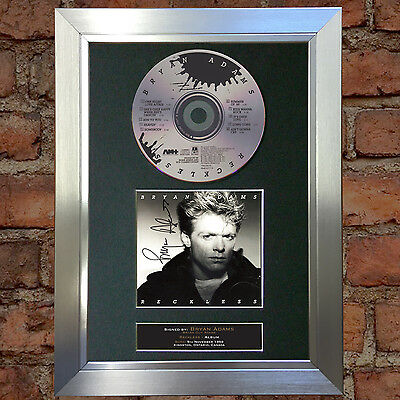 BRYAN ADAMS Reckless ALBUM Signed Autograph CD Mounted Print 72