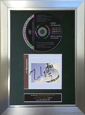 DIRE STRAITS Brothers in Arms ALBUM Signed Autograph CD Mounted A4 Print 73