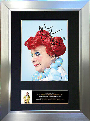 CHRISTOPHER BIGGINS Signed Autograph Mounted Reproduction Photo A4 Print no617