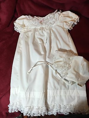 Infant Christening Gown With Cap