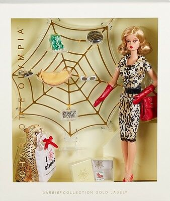 Charlotte Olympia Barbie Doll 2016 Gold Label Sold Out Mint
