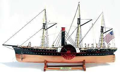 "Sidewheel Steamship SS Central America 26""- Handmade Wooden Tall Ship Model NEW"
