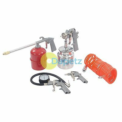 5Pce Air Tools & Compressor Accessories Complete Kit For Spray Inflate  & Hose