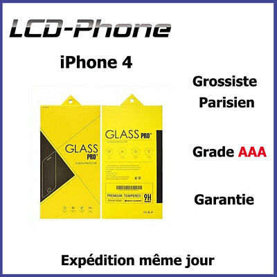 Film de protection en verre trempé HD - 9H-iPhone 4/4S - Prix grossiste