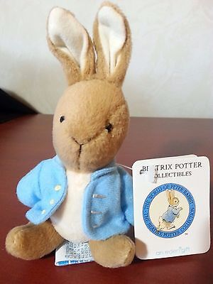 """Beatrix Potter Collectibles Peter Rabbit Plush 7"""" jointed doll"""