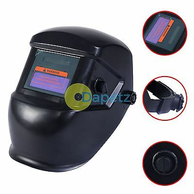 Auto Darkening Welding Mask Helmet Grinding Solar Power PPE Safety Protects Face