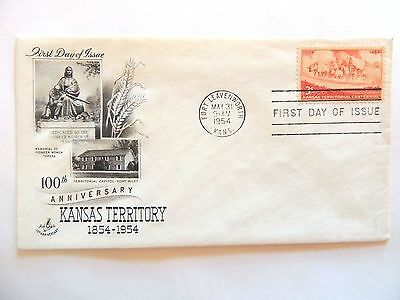 """May 31st, 1954 100th Anniversary """"Kansas Territory"""" 1st Day Issue"""