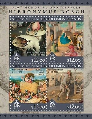 Z08 IMPERFORATED SLM16308a SOLOMON ISLANDS 2016 Hieronymus Bosch MNH