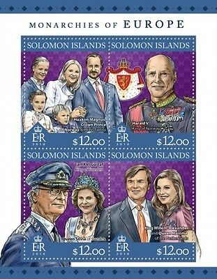 Z08 IMPERFORATED SLM16310a SOLOMON ISLANDS 2016 Monarchies of Europe MNH