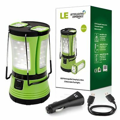 LE 10W 600lm 58 LEDs Camping Laterne mit 2 abnehmbaren Mini Taschenlampen IPX4