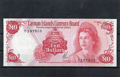 CAYMAN ISLANDS North America 10 Dollars QEII UNC 1972 p-3