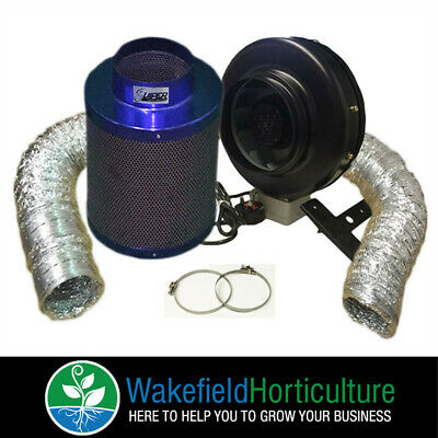 "5"" High Power Fan And 5""/ 300  Premium Viper Carbon Filter Kit Hydroponics"