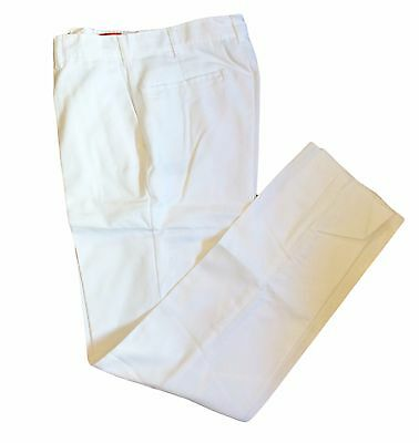 Men's Pants Industrial Work Uniform Button Closure White Limited Quantities -NEW