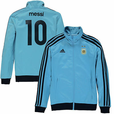 NEW Youth ADIDAS Argentina Messi #10 Soccer Football Track Jacket Blue MSRP $75