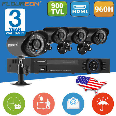 8CH AHD 1080N HDMI DVR 960P 2000TVL CCTV DVR Outdoor Home Security Camera System
