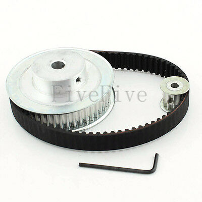HTD 5M 48/12 Tooth Width 16mm Timing Pulley Belt set kit Reduction Ratio 4:1