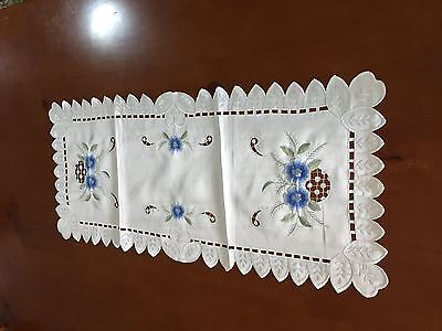 Embroidery Hand made flower table runner Home Party decor Clearance sale!