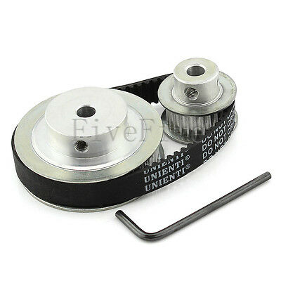 HTD 3M 50/25 Teeth Timing Pulley Belt Width 10mm Set Kit Reduction Ratio 2:1