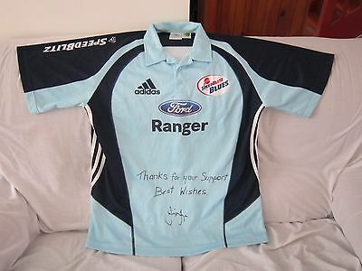 Nsw Cricket Adidas Player Issue Jersey Signed Phil Jaques Size Large #23