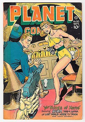 Planet Comics #50 Classic Good Girl Tape & Color 1947