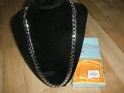 """24"""" 18K White Gold Plated Curb Chain Necklace Traditional Men's Birthday Gift BF"""