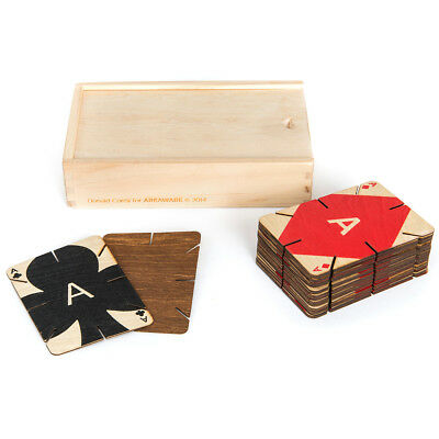 NEW Areaware Plywood Playing Cards