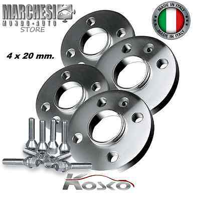 Kit 4 Distanziali Ruote 20 Mm. Smart Type 450 451 452 - 3 Fori Con Bulloni