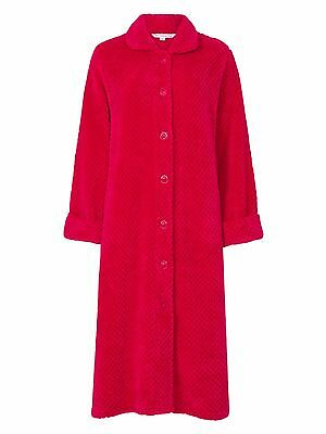 Slenderella Womens Button Dressing Gown. Luxury Super Soft Waffle Fleece. HC6326