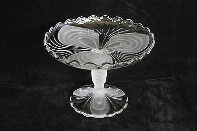 Rare & Unusual Vintage Cambridge Glass Caprice Crystal Alpine Cheese Stand