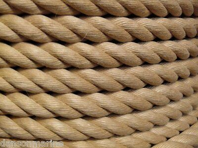 24mm (1 inch approx) Decking Rope Hardy Hemp Sold by the meter