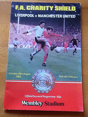 Liverpool V Manchester United 20/8/1983 Charity Shield