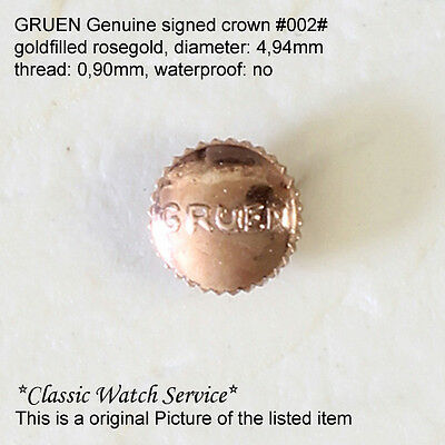 Gruen Watch Co. Signed Crowns for Curvex + others goldfilled rosegold 7 Styles