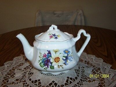 Arthur Wood & Son Staffordshire, England Teapot With Flowers