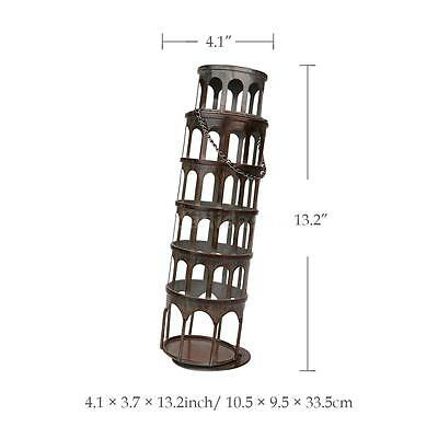 TOOARTS Metal Rustic Tower Wine Bottle Holder Rack Handwork Art Decorations K4Z7