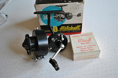 A Super Boxed Early Rare Balzer Mitchell 304 Spinning Reel + Boxed Spare Spool