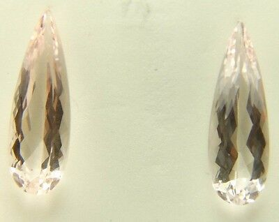 Pink Morganite pear shape 5.69ct 19x6mm Brazil, tear drop unusual stone Q-153